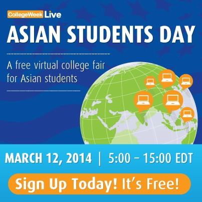 blog Image Asian Students Day at CollegeWeekLive is March 12!
