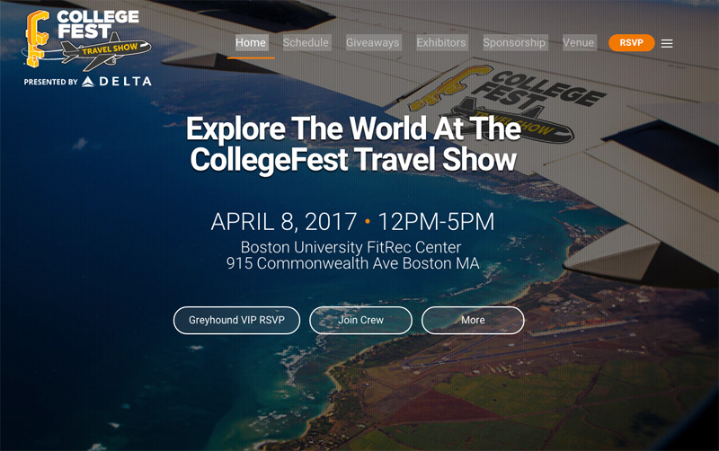 Blog post image for The CollegeFest Travel Show is Saturday April 8!