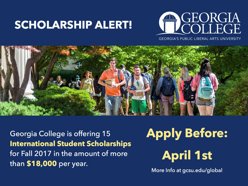 Blog post image for $18,000+ International Student Scholarships available from Georgia College!