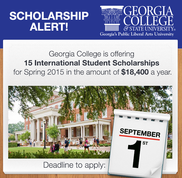 blog Image Georgia College International Student Scholarships - Apply Now!