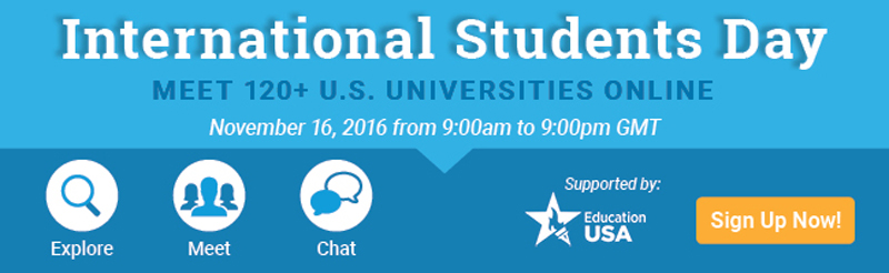 Blog post image for November 16: International Students Day Online Fair