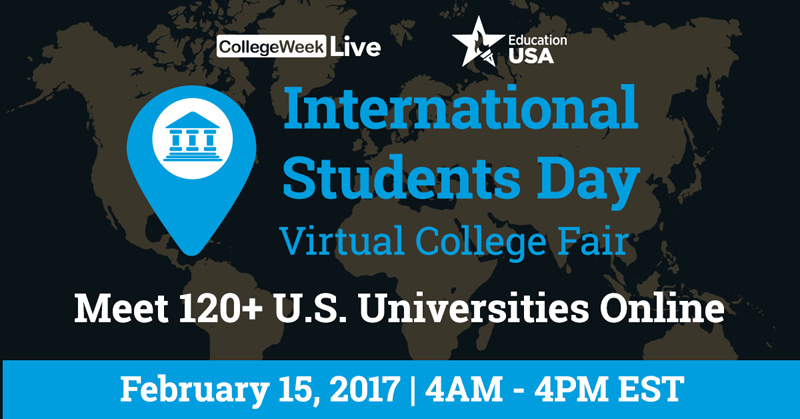 Blog post image for International Students Day Virtual Fair is Wednesday, Feb 15