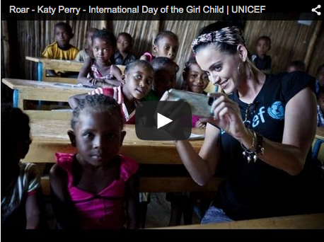 blog Image Hear Katy Perry roar for International Day of the Girl!