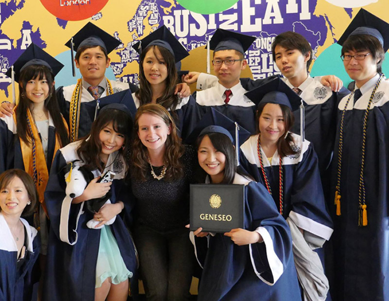 blog Image International student graduation at State University of New York, Geneseo!