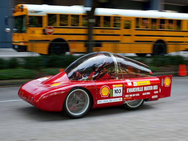 blog Image How slow can you go? Engineering students take home top prizes at the Shell Eco-marathon.