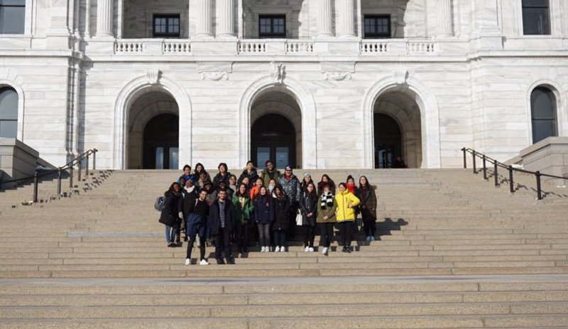 Blog post image for St. Cloud State University students visit the capital!