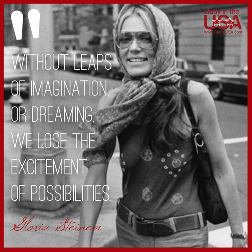 blog Image Monday Quote by Gloria Steinem