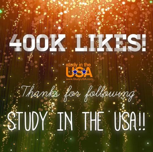 blog Image The Study in the USA Facebook page just reached 400,000 Likes!!