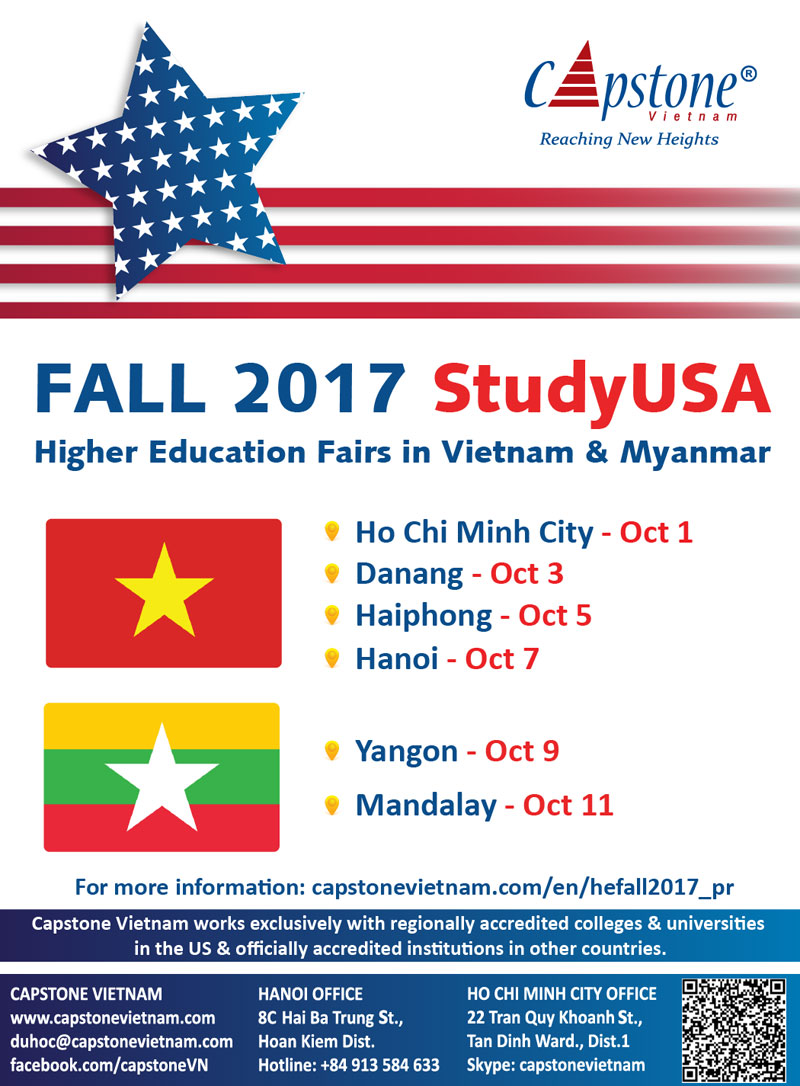 Blog post image for StudyUSA Higher Education Fairs in Vietnam and Myanmar