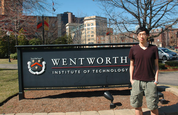 blog Image Wentworth Institute of Technology student Xujie Zhao
