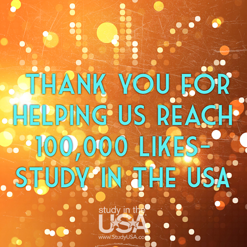 blog Image Study in the USA has reached 100,000 Facebook Likes!