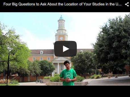 blog Image Video: Four Big Questions to Ask About the Location of Your Studies in the USA - from UNT