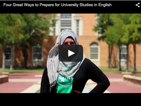 blog Image Video from UNT: Four Great Ways to Prepare for University Studies in English