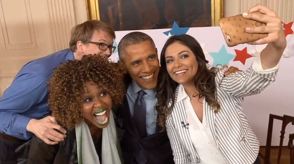 blog Image YouTube artists Bethany Mota, GloZell Green & Hank Green interviewing President Obama!