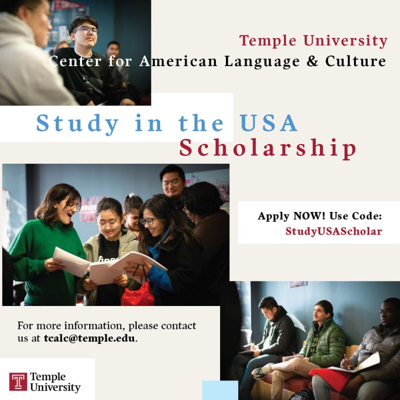 Blog post image for  Temple Center for American Language and Culture is now offering scholarships