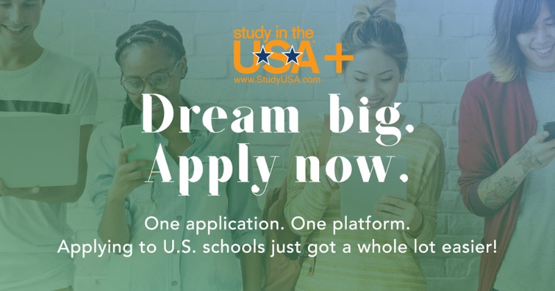 Blog post image for Introducing StudyUSA+. Applying to U.S. schools just got a whole lot easier!