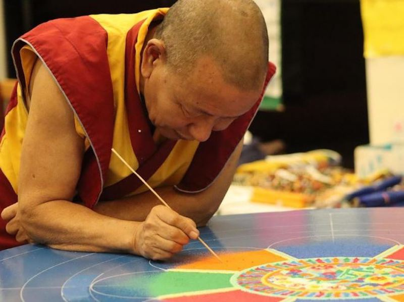 Blog post image for Tibetan Buddhist Monk Tenzin Yignyen is back at Mohawk Valley Community College!
